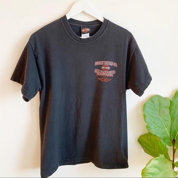 Vtg 90's Harley Davidson Black T Shirt M Made USA